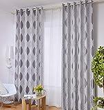 Yushi Moderne minimalistische Blackout Vorhang vollständig ausgekleidet vorgefertigte Vorhänge Eyelet Ring Top, 2 Panels, (230cm x 230cm), 117 * 138cm