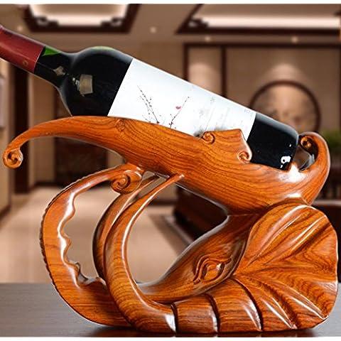 WZH creativa pera madera vino atormenta adornos de talla en madera