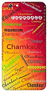 Chamkaur (Battle Field Where Guru Gobind Singh Fought) Name & Sign Printed All over customize & Personalized!! Protective back cover for your Smart Phone : Apple iPhone 6-Plus