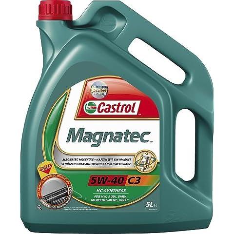 Castrol MAGNATEC Aceite de Motores 5W-40 C3 5L (Sello alemán)