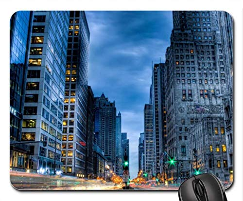 Gorgeous Michigan ave. in Chicago HDR Mouse Pad, Mousepad (Skyscrapers Mouse Pad)