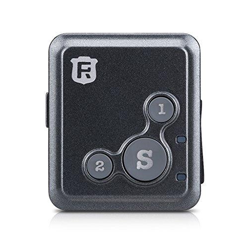 Reachfar V16 - Rastreador GPS 2-1 Mini comunicador SOS, Gris