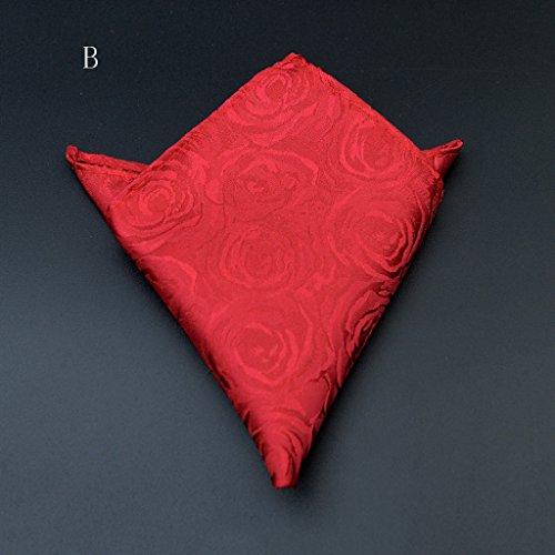 ZJM Mouchoir Pocket Square Premium Satin mouchoir 12 couleurs à choisir de carrée Hanky ( Couleur : L ) B