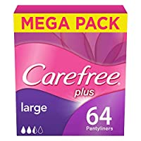 CAREFREE, Panty Liners, Large, Pack of 64