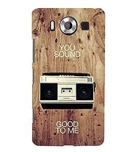 Fiobs Designer Phone Back Case Cover Microsoft Lumia 950 :: Nokia Lumia 950 ( You Sound Good To Me Radio )