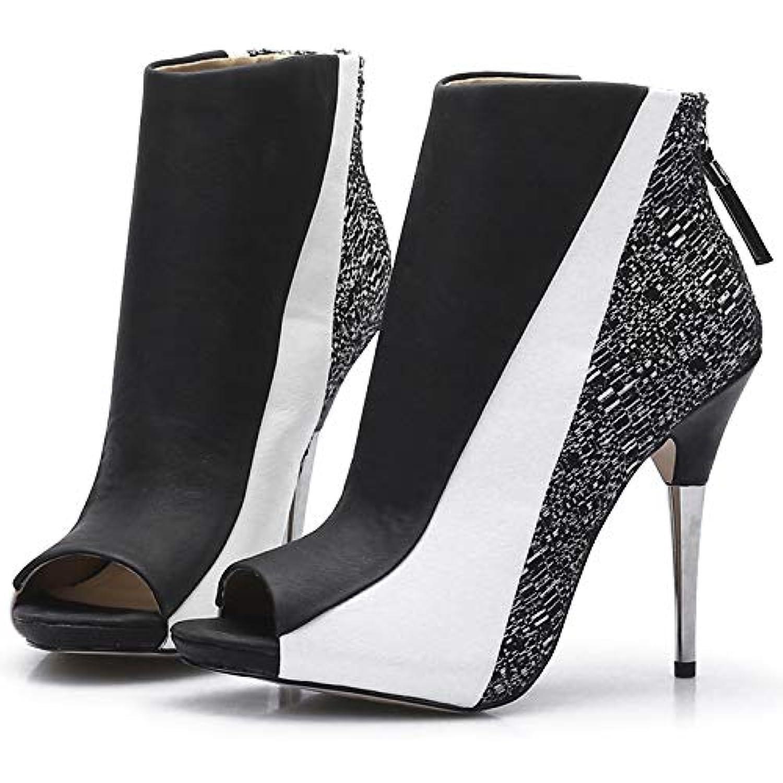 ZHZNVX Chaussures pour Bottes Femme Tissu/Bottes Mode été/Automne / Bottes pour Bottines à Talons Aiguilles Bottes Peep Toe... - B07JFD7GKS - 07fda3