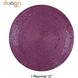 """Dungri ® Handmade Pink Round Beaded Placemat - Large Coaster Perfect For Dinner Table, Dining Table Placemats ( Dia - 12"""") NEW GIFT IDEA.."""