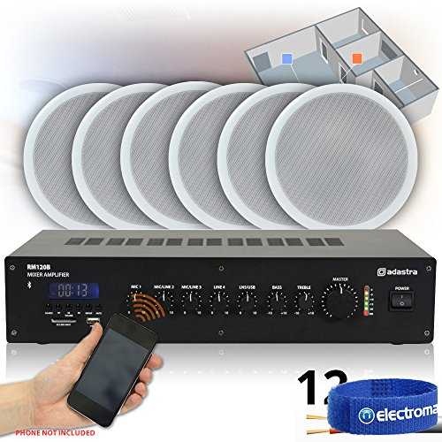 12x-ceiling-speakers-bluetooth-amplifier-100v-line-hall-warehouse-pa-system