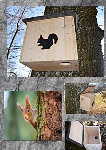 Eichhörnchenkobel Eichhörnchenhaus XL mit 2 Eingängen
