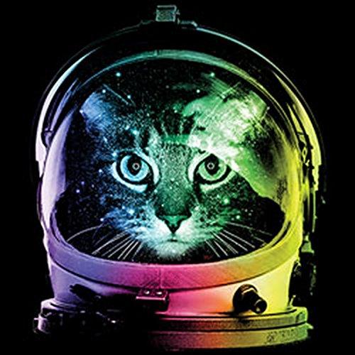 Pop Art Style Tank Top Neon Space Cat Shirt 4 Heroes Beach Tanktop Herren Geburtstag Geschenk geil bedruckt Schwarz