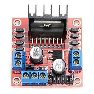 L298N Motor Drive Board Modulo - TOOGOO(R)L298N Doppio Ponte H DC Stepper Motor Drive Controllore Board Modulo Per Arduino Rosso