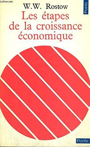Les etapes de la croissance economique - collection points n16