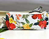Tropical red glasses pouch case for women, padded glasses case soft pouch SLIM or LARGE