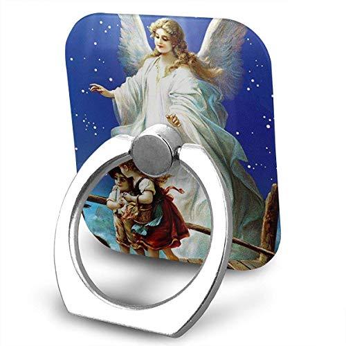 Nicegift Guardian Angel Cell Phone Ring Holder 360 Degree Rotation and 180 ¡ãFlip Finger Ring Stand Holder Kickstand for iPhone,Samsung Galaxy, Smartphones and Tablet