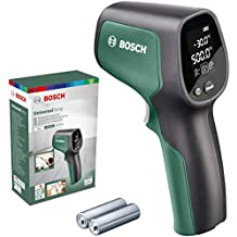 Thermomètre infrarouge portable Bosch - UniversalTemp (Plage de températures : -30 °C à +500 °C, livré avec 2 piles AA, emballage: boite en carton)