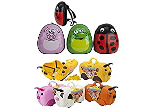 Larger Kids Hard Shell Suitcase & Backpack Luggage Childrens Animal School Padded Travel Bag