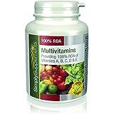 SimplySupplements 100% AJR Multivitamines ABCD & E |360 comprimés| Pour la santé en général