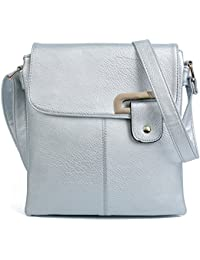6cd14cb19472 Craze London Womens Medium Multiple Pockets Trendy Cross body Messanger  Shoulder bag