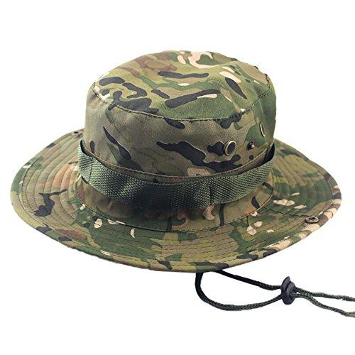 SEWORLD Heißer Einzigartige Einstellbare Eimer Hüte Camouflage Boonie Cap Nepalesische Kappe Armee Herren Damen Fangkappe Outdoor Sonnenschutz Jagd ()