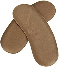 Age Care Fabric Sticky Shoe Back Heel Insoles Protector Liner Pads - 5 Pair
