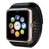 YuanGuo Smart Watch Bluetooth Smartwatch YG8 Uhr Intelligente Armbanduhr Tracker Armband Sport Uhr Telefon/Kamera/Schrittzähler/Schlafanalyse für Android Smartphone Samsung HTC Sony LG iPhone (Gold)