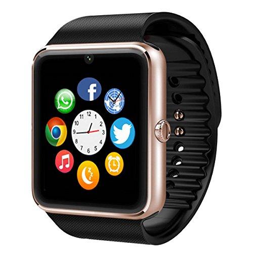 Bluetooth Montre Smart Watch Phone, 11LOVE Montre Intelligente Téléphone avec Caméra Ecran Tactile Support SIM / TF Card / Appel / SMS / Twitter / Facebook Push, Fitness Tracker Montre de Sport Montres Connectée pour iPhone IOS et Android...