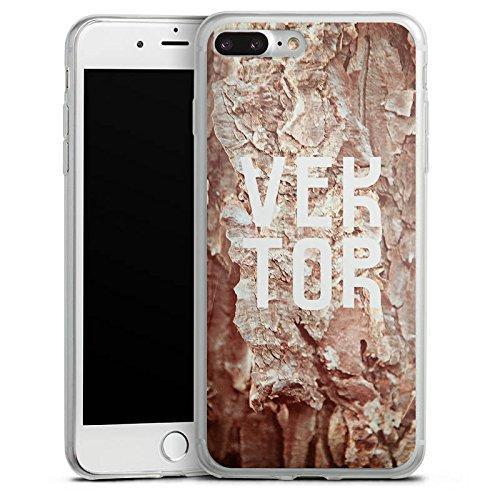 Apple iPhone 8 Plus Slim Case Silikon Hülle Schutzhülle Höhle VEKTOR Steine Silikon Slim Case transparent