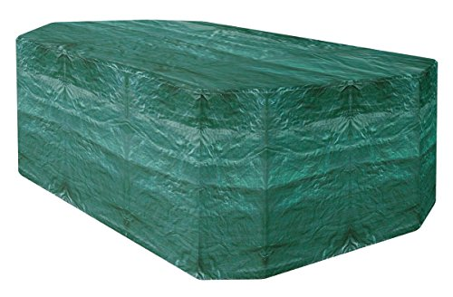 Garland Rectangular Furniture Set Cover for Six Seater Green Pack of 1