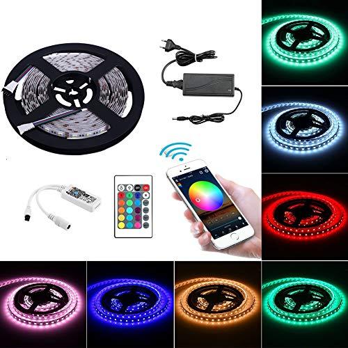 BWW Set Arbeitet mit Alexa, Google Home, IFTTT, Wifi Wireless Smart Phone Gesteuert (RGB+Warmweiß) 4 in 1 LED Lichtleiste Full Kit ()