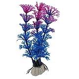 sourcingmap® Fisch Tank Plastik künstlich Emulational Gras Aquarium Pflanze Dekor blau Lila