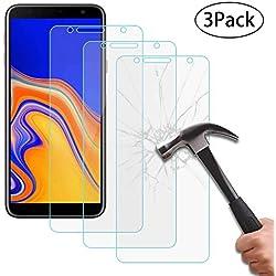 Verre Trempé Samsung Galaxy J4 Plus 2018,[3 Pack] 0,3mm 9H Dureté Anti Rayures Film Protection en Verre trempé écran Protecteur vitre pour Samsung Galaxy J4 Plus 2018 (6,0 Pouces) [Transparente]
