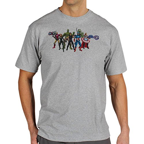 The Avengers All Team Statue Edition Herren T-Shirt Grau