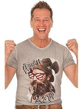 Trachten Herren Shirt - BEPPI AUSTRIA - grau