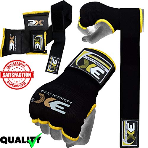 3XSports Gel Padded Boxing Inner Gloves Hand Wraps MMA Training Fist Protector Bandages Mitts