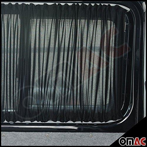 Preisvergleich Produktbild Mercedes Vito W639 / Viano MAß GARDINEN VORHÄNGE SET SCHWARZ Kurzer Radstand