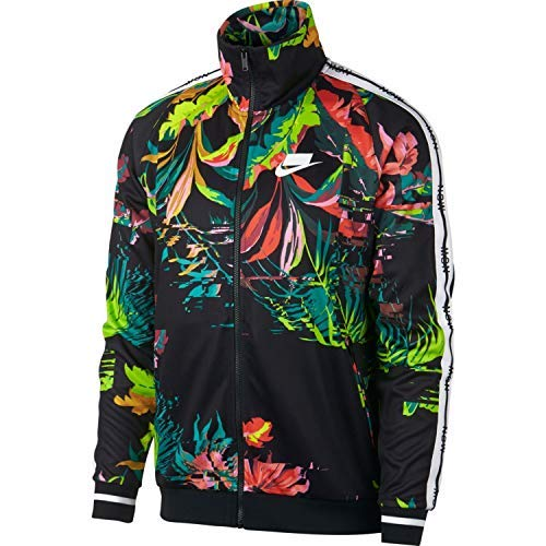 Nike Herren M NSW TRK JKT AOP Jacket, Cyber/Black/White, L -
