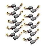 20 pcs Cb411 électrique Outil 12 mm x 9 mm x 6 mm Moteur Balais de charbon