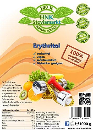 Natürliche Zucker Ersatz (Erythritol Erythrit Zuckerersatz kalorienfrei , 1er Pack (1 x 1 kg))