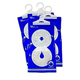 4 sacchetti MAXI PACK 235 gr assorbi umidità per armadio, deumidificatore contro muffa causata da umidita e cattivi…
