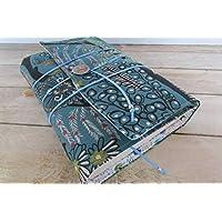 Protège livre fait main, couverture livre format poche, couvre livre en tissu coton jungle, cadeaux, voyage, noël, anniversaire