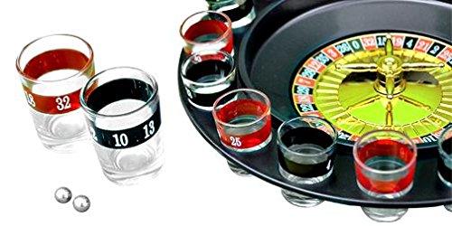 Shine Roulette Bere Gioco con 16Shot Glasses- partito cervo Gallina Spin