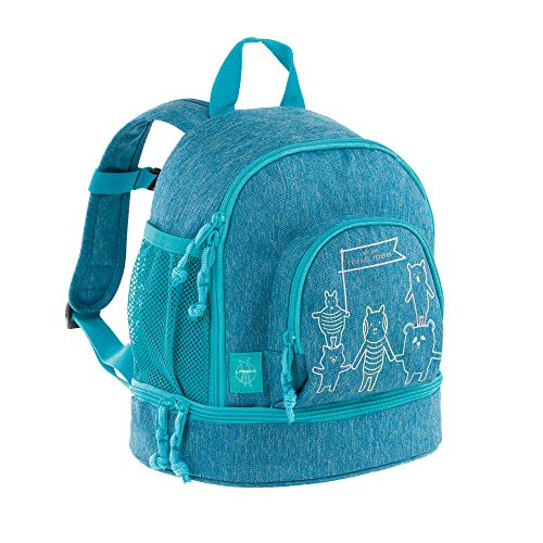 LÄSSIG Kinderrucksack Kindergartentasche mit Brustgurt/Mini Backpack About Friends blue mélange