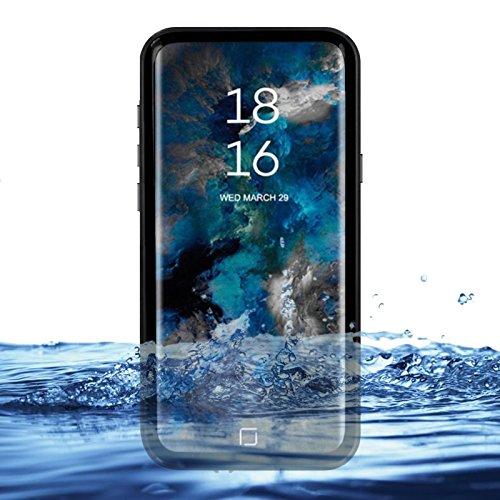 eazewell Galaxy S9Wasserdicht Schutzhülle, Ultra Slim 100% Unterwasser stoßfest Schneedicht Schutzhülle Transparent Rückseite Haut Rugged Box für Samsung Galaxy S9sm-g960, Schwarz Touchable Crystal Case