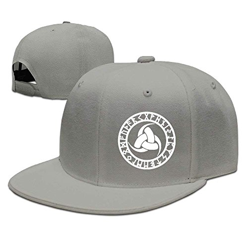 MAINGO Adjustable Baseball Hat Flat Brim Hat Unisex/Men/Women - Celtic Odin's Horn