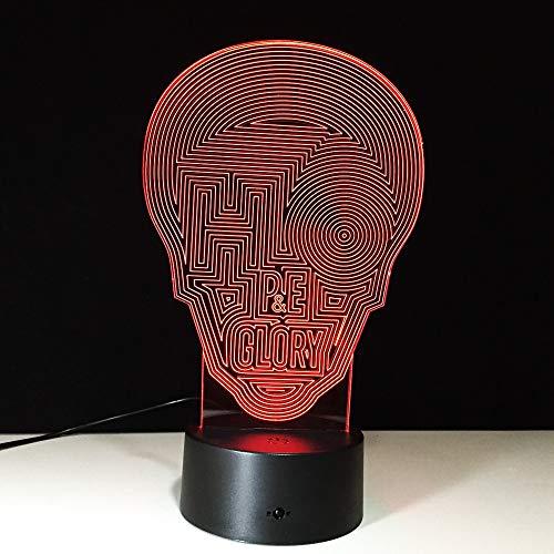 3D Nachtlicht Abstrakte Maske Optische Täuschung Lampe LED Licht Nachttischlampe Tischlampe 7 Farben ändern Touch Switch Schreibtisch Lampen Geburtstagsgeschenk Zuhause Dekor