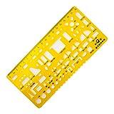 HAND KJ-008 Dessin technique architecturale en plastique Symboles de meubles pour l'intérieur de la maison Plan de plancher Forme de dessin Modèle de plancher - 18 cm...