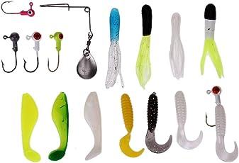 Zibuyu 62Pcs Fishing Tackle Lures Soft Baits Silicone Fishing Bait Carp Accessory