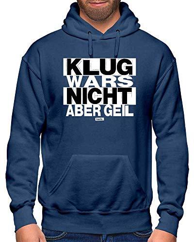 Victim Kostüm Fashion - HARIZ Herren Hoodie Klug Wars Nicht Aber Geil Sprüche Schwarz Weiß Plus Geschenkkarte Navy Blau M