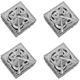 Baal Set Of 4 Pcs Multipurpose Square Shape Box For Home Kitchen, Silver, 20 Grams, Pack Of 1