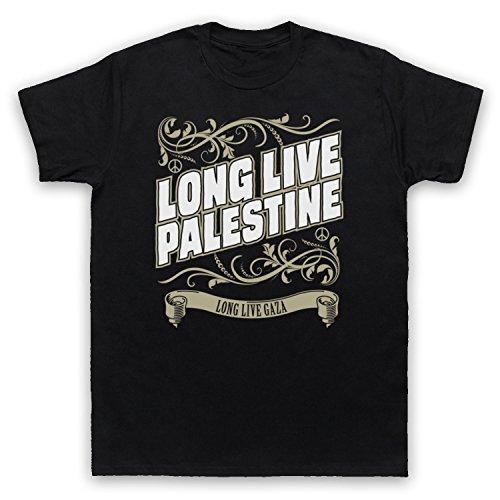 Long Live Palestine Long Live Gaza Herren T-Shirt Schwarz